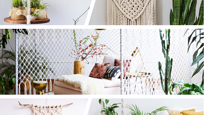 Techniques and ideas for making a macrame pendant light